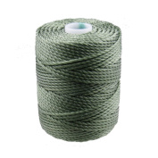 C-Lon Tex 400 Heavy Weight Bead Cord, Fern Green - 1.0mm, 39 Yard Spool