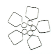 H & D 500pcs Plated Silver Crystal Buckle for Fastening Crystals Ball prism, Feng Shui, Chandelier Crystals, Lamp Crystals,Ceiling Light Crystals .... ect .