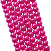 30pcs/lot 10mm Rose Red Round Glass Faux Pearl Spacer Beads For Handmade/DIY Fashion Jewellery Making