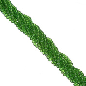 145pc/lot 4mm Green Loose Pacer Cut Rondelle Faceted Crystal Glass Stand Beads Strings DIY Jewellery Making