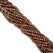 145pc/lot 4mm Crystal Bronze Loose Pacer Cut Rondelle Faceted Crystal Glass Stand Beads Strings DIY Jewellery Making
