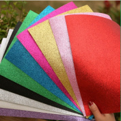 Glitter Foam Sheet Sparkles Self Adhesive Sticky 30cm X 25cm Back Paper 10-pack for Children's Craft Activities DIY Cutters Art Assorted Colours