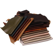Scrap Upholstery Leather Craft Mixed Colours 1kg