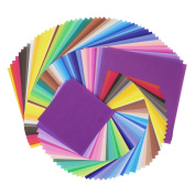 SOOKOO 50 Vivid Colours 200 Sheets Different Sizes Origami Paper for Arts and Crafts Projects, 100 Sheets 15cm by 15cm , 100 Sheets 10cm by 10cm