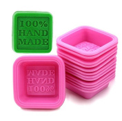 Sharlity 20 Pcs Hand Made Soap Mould Silicone Mould for Cake Candy Chocolate Backing Soap Moulds