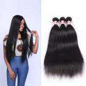Beauty Princess Vigin Peruvian Straight Hair 3 Bundles 100% Unprocessed Human Straight Weft Extensions Natural Black Colour 95-100g/pc