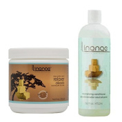 Linange Shea Butter Relaxer (440ml) & Neutralising Conditioner (470ml) Set