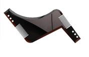 Innolife All in One Beard Comb and Shaping Template Tool Beard Ruler Beard Shaper Guide Comb