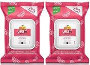 Yes To Grapefruit Correct & Repair Rejuvenating Facial Wipes,