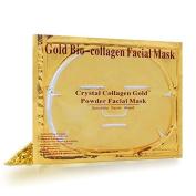 Bingirl 5pcs Skin Care Facial Mask Moisturising Firming Whitening Anti-ageing Oil-control Mask Gold Bio-Collagen Gold Crystal Collagen Powder Face Mask