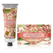 Somerset Toiletry Co. AAA Floral Hand Cream and Triple Milled Soap Set - Lotus Flower