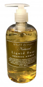 K Hall Orange Amber Liquid Hand and Body Soap Vegetable Based