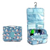 JINDIN Portable Travel Toiletry Bag Hanging Mesh Waterproof Women Cosmetic Bag Storage Purse Organiser Makeup Pouch Men Shaving Kit with Hanging Hook