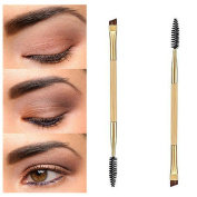 LQZ(TM)Eyebrow Brush + Eyebrow Comb Double End Brushes for Makeup Eyebrow