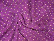 silk chiffon dotted printed dusty lavender 110cm wide