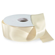 Ivory 3.8cm . Wide Double Faced Satin Ribbon - 50 Yard Spool