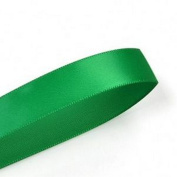 Emerald Green 1cm . Wide Double-Faced Satin Ribbon - 100 Yard Spool