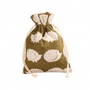 TooGet 12pcs Double Drawstring Cotton Linen Jute Cloth Sack Muslin Bags Favour Wedding Gift Jewellery Candy Bags Packing 10cm x 12cm