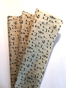 Tissue Paper for Gift Wrapping with Design (Dark Ivory Music Notes), 24 Large Sheets