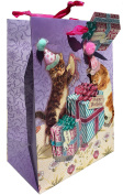 Punch Studio Gold Foil Embellished Small Gift Bag ~ Kitty Cat Birthday Party 64788