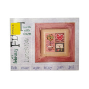 Lizze Kate Flip It Blocks With Charm February #F21 Cross Stitch Chart