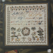 Sampler 1827, Permin of Copenhagen Cross Stitch Chart Danish Art Needlework
