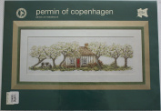 Country Cottage, Permin of Copenhagen Cross Stitch Chart Danish Art Needlework