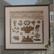 Sampler-1826 Beidermeier, Permin of Copenhagen Cross Stitch Chart Danish Art Needlework