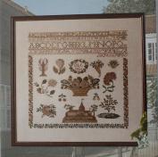 Sampler-1826 Beidermeier, Permin of Copenhagen Cross Stitch Chart Danish Art Needlework