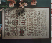 Sampler 1854, Permin of Copenhagen Cross Stitch Chart Danish Art Needlework