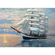 Ukerdo DIY Boat Sailing Diamond Painting Wall Art Pictures for Living Room