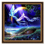 Ukerdo DIY Phoenix Fly Together Diamond Painting Wall Art Pictures for Living Room