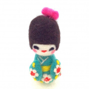 Artec360 Needle Felting Kit for Beginner Traditional Japanese DIY Toys Craft Dolls Kimono Craft Felting Kits Original Pure Soft Wool 20cm X 13cm