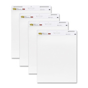 Post-it Easel Pad, 60cm x 80cm , White, 30-Sheets/Pad, 4-Pads/Pack