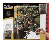 Plaid Creates Deer Pair Paint by Number Kit