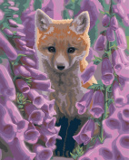 Plaid Creates Foxgloves Paint by Number Kit