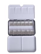 MEEDEN Empty Watercolour Tins Pallette Paint Case Metal Box with 12 Transparent Half Pans