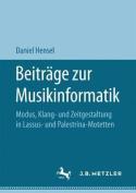 Beitrage Zur Musikinformatik [GER]