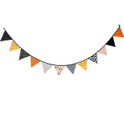 Happy Halloween Banner Party Decorations Linen Flag Bunting Banner Party Supply