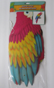 Luau Hawaiian Parrot Jointed Party Cutout 70cm Tall