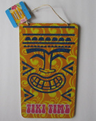 Tiki Time Hawaiian Wooden Party Sign