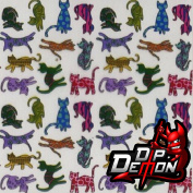 CAT CRAZY HYDROGRAPHIC WATER TRANSFER FILM HYDRO DIPPING DIP DEMON