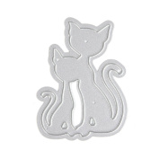 Taloyer 1pcs Metal Cutting Dies Creative Cats Stencil Embossing Template Moulds for DIY Scrapbooking Album Paper Card Making Craft Decor