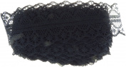 Ultimate Crafts Magnolia Land Collection Lace Black 10yds ULT157507
