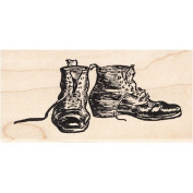 Old Boots Rubber Stamp