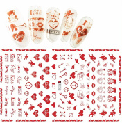 F176 Super Thin Sweet Heart Nail Art Sticker Decals Decoration Self Adhesive DIY