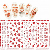 F176 Super Thin Sweet Heart Nail Art Sticker Decals Decoration Self Adhesive DIY