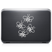 Cute Bumble Bees REMOVABLE Vinyl Decal Sticker For Laptop Tablet Helmet Windows Wall Decor Car Truck Motorcycle - Size (05 Inch / 13 Cm Tall) - Colour