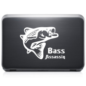 Bass Assassin Fish Fishing REMOVABLE Vinyl Decal Sticker For Laptop Tablet Helmet Windows Wall Decor Car Truck Motorcycle - Size (05 Inch / 13 Cm Wide) - Colour