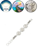 Bracelet Lobster Toggle Clasp 18mm Snap Buttons Child Bereavement with Wings Heaven 18mm